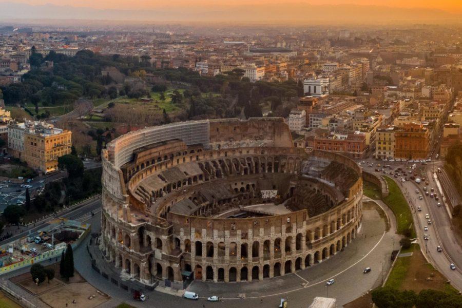 ROMA RIPRESE VIDEO CON DRONE